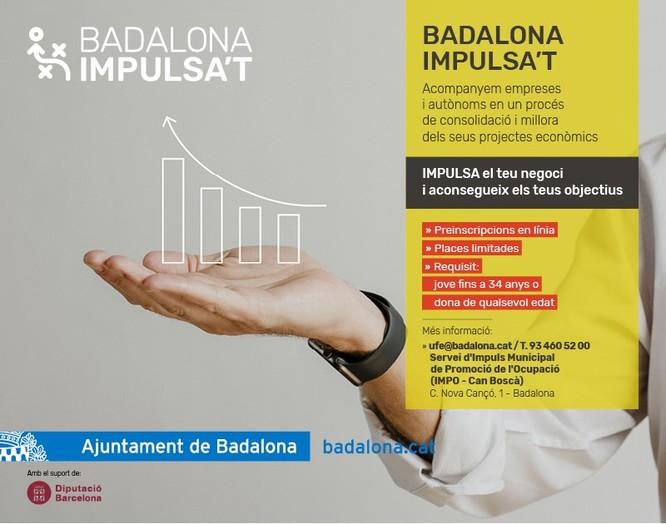 """Autònoms o microempreses de la ciutat es poden acollir als programes """"Badalona Impulsa't Dona"""" i """"Badalona Impulsa't Jove"""" per superar la crisi provocada per la Covid-19"""