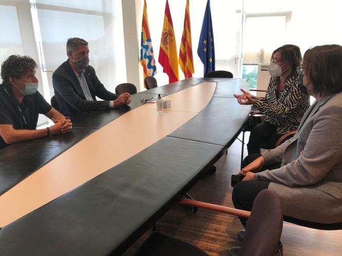 L'alcalde es reuneix amb la directora de l'Escola Tècnica Superior d'Enginyeria de Camins, Canals i Ports de la UPC per plantejar alternatives al projecte d'ADIF d'instal·lar pantalles acústiques a la Rambla