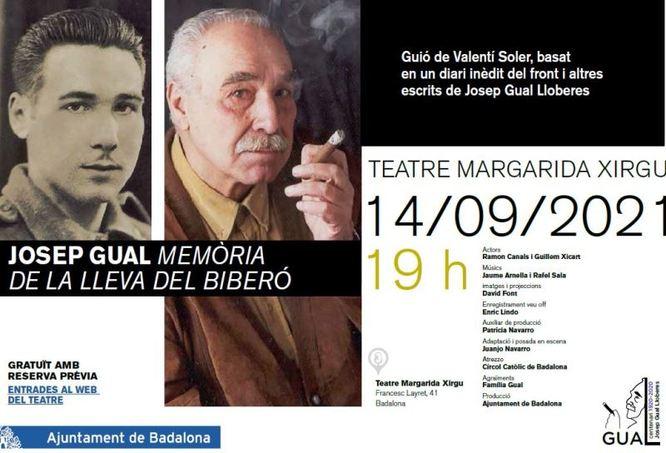 Avui dimarts a les 19 hores se celebra l'acte de cloenda del centenari Gual al Teatre Margarida Xirgu