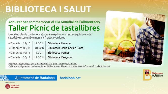Les biblioteques de Badalona s'uneixen a celebrar el Dia Mundial de l'Alimentació