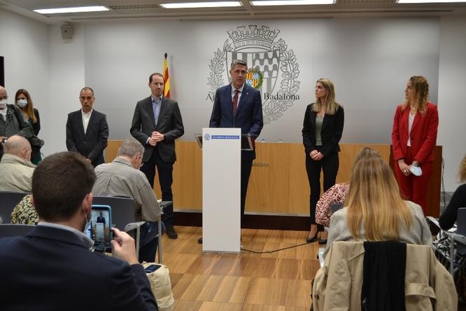 Compareixença de l'alcalde de Badalona per valorar la presentació de la moció de censura