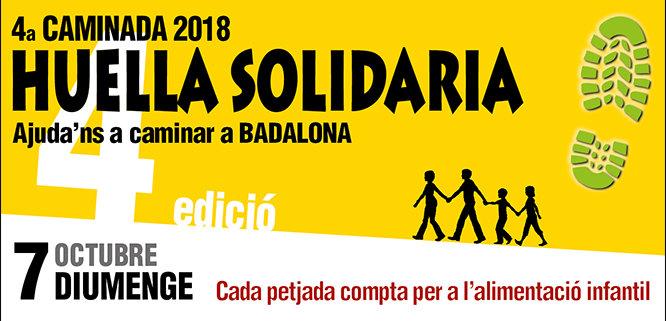 """Badalona serà l'escenari, aquest diumenge, 7 d'octubre, d'una nova edició de la caminada popular """"Huella solidaria"""""""