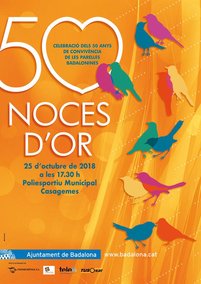 Aquest dijous se celebra la XXXII edició de les Noces d'Or al poliesportiu de Casagemes de Badalona