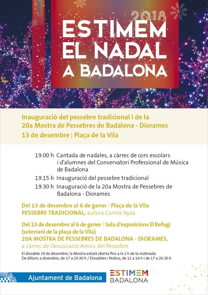 Dijous 13 de desembre s'inaugura el Pessebre de la plaça de la Vila i la 20a Mostra de Pessebres a la sala El Refugi