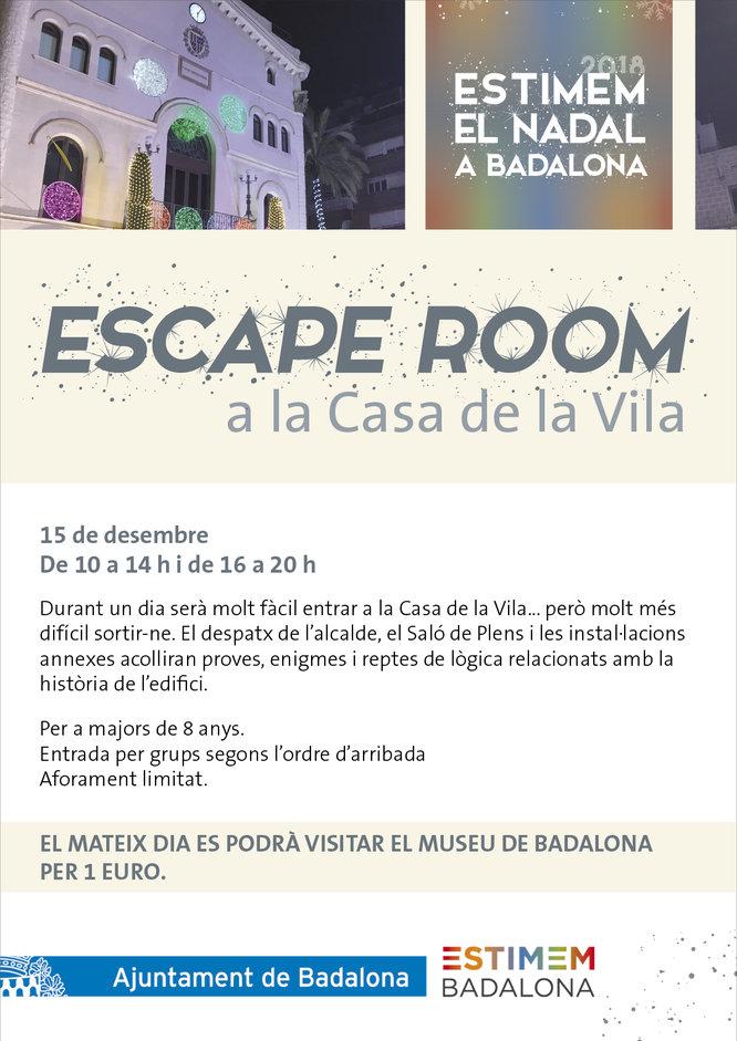 Badalona estrena aquest dissabte un Escape Room a la Casa de la Vila de la ciutat