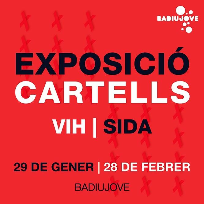 """Avui s'inaugura al Badiu Jove de Badalona l'exposició """"Cartells VIH / Sida"""""""
