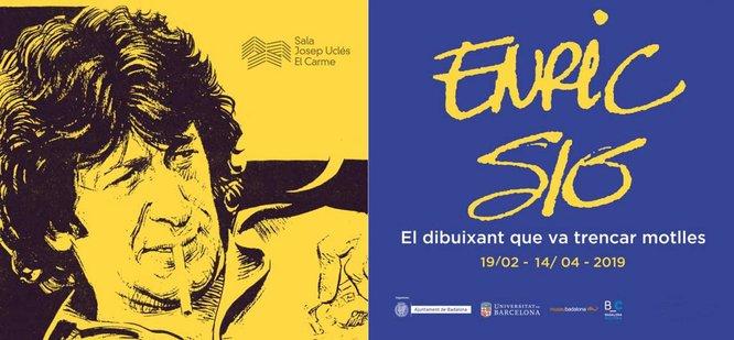"""L'exposició """"Enric Sió, el dibuixant que va trencar motlles"""" es podrà visitar entre el 19 de febrer i el 14 d'abril al Centre Cultural El Carme de Badalona"""