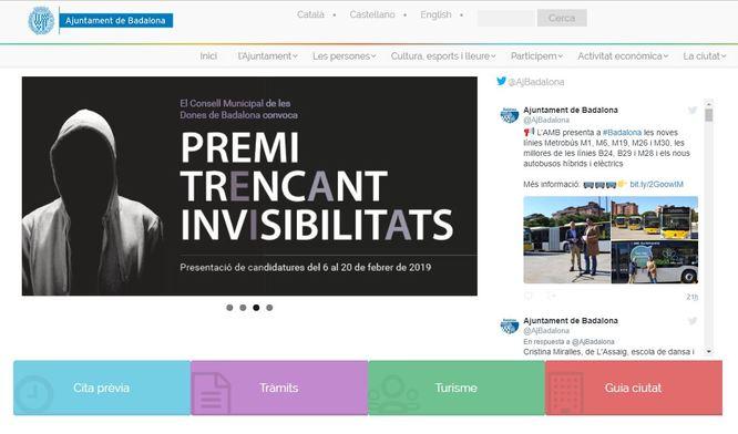 La pàgina web municipal estrena un nou disseny i millores en la navegació i les cerques