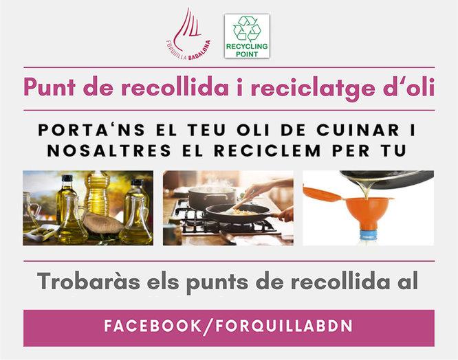 """Diversos restaurants de Badalona participen a la campanya """"Punts de recollida i reciclatge d'oli"""""""