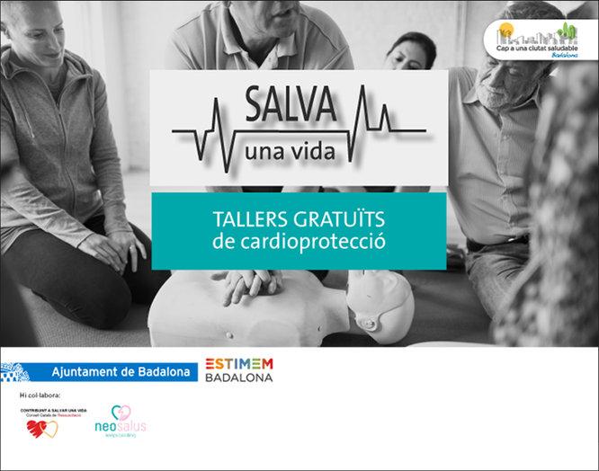 """L'Ajuntament de Badalona continua impulsant la campanya """"Salva una vida"""" amb dos tallers gratuïts de cardioprotecció adreçats a les persones que treballen a les parades dels mercats municipals"""