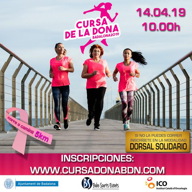 2.000 persones participen aquest diumenge, 14 d'abril, a la Cursa de la Dona de Badalona