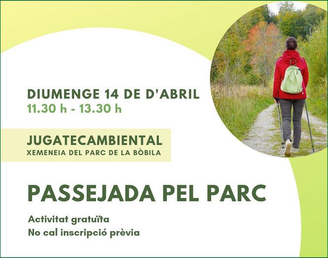 """""""Orienta't al parc"""" i """"Passejada pel parc"""" són les propostes destacades de la Jugatecambiental per aquest diumenge 14 d'abril"""