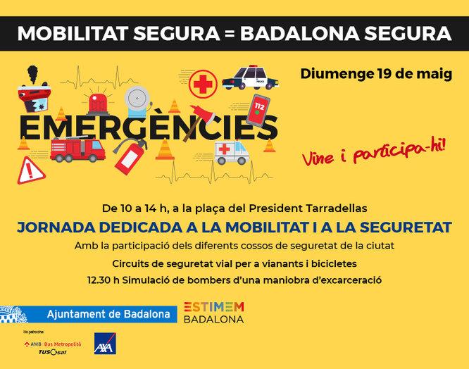 La plaça del President Tarradellas acull el diumenge 19 de maig una jornada dedicada a la mobilitat i a la seguretat