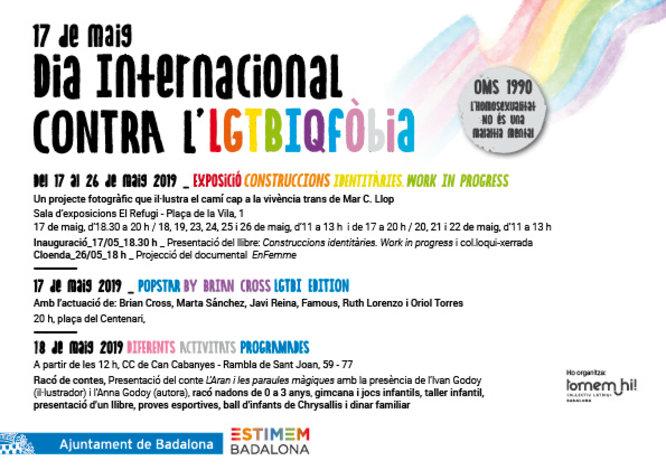 Badalona commemora aquest divendres 17 de maig el Dia Internacional contra la LGTBIQfòbia