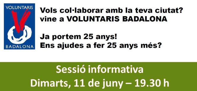 Sessió informativa sobre l'associació Voluntaris Badalona