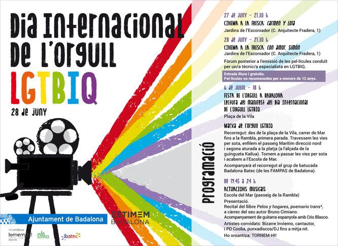 Badalona commemora el Dia Internacional de l'Orgull LGTBIQ amb activitats festives i reivindicatives d'un col·lectiu que reclama la plena igualtat jurídica i social