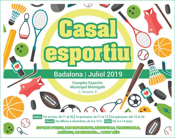 115 nens i nenes participaran en el Casal Esportiu de Badalona que comença l'1 de juliol