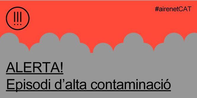 La Generalitat declara episodi per alta contaminació per partícules a tot Catalunya i manté l'avís preventiu per NO2