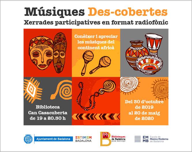 Demà dimecres s'inicia el cicle Músiques Des-cobertes a la Biblioteca Can Casacuberta de Badalona