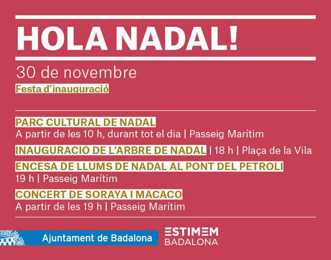 Badalona dona la benvinguda al Nadal aquest dissabte amb una gran jornada festiva
