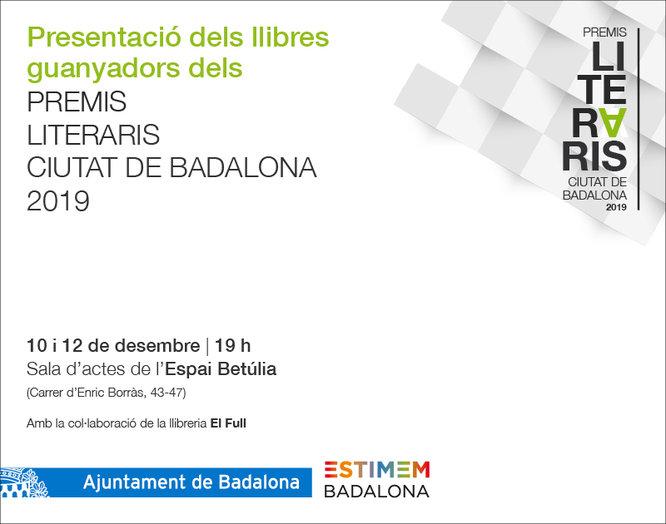 L'Espai Betúlia acull la presentació dels llibres guanyadors dels Premis Literaris Ciutat de Badalona 2019