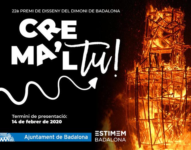 L'Ajuntament de Badalona convoca el 22è concurs Crema'l tu! d'on sortirà el disseny del Dimoni que es cremarà la Nit de Sant Anastasi