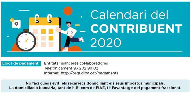 Calendari del contribuent 2020 a Badalona