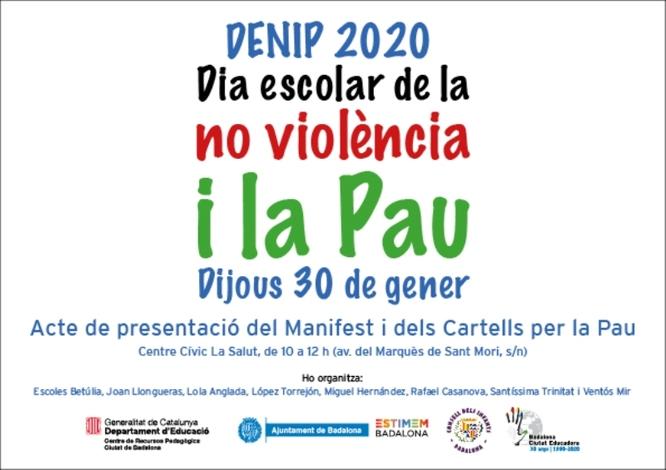 Les escoles de Badalona celebren dijous 30 de gener el Dia Escolar de la No Violència i la Pau
