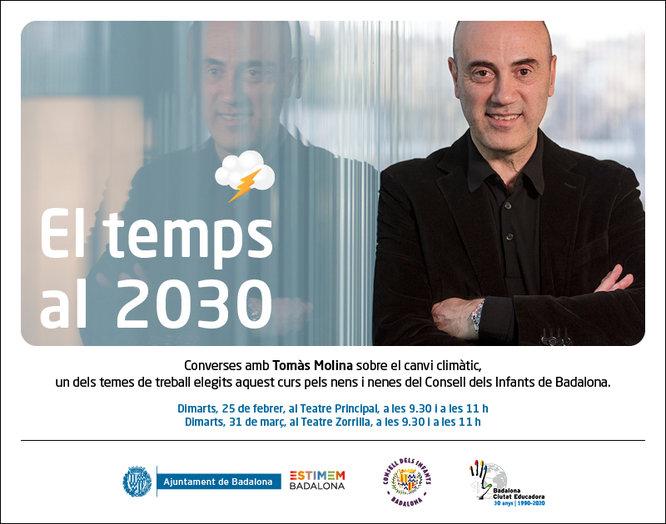 El meteoròleg badaloní Tomàs Molina parlarà del canvi climàtic a l'alumnat de les escoles vinculades al Consell dels Infants de Badalona
