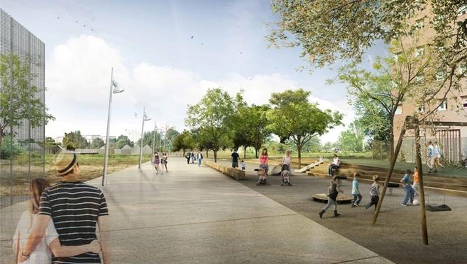 Avui s'inicien les obres del camí del parc del G-4 de Badalona