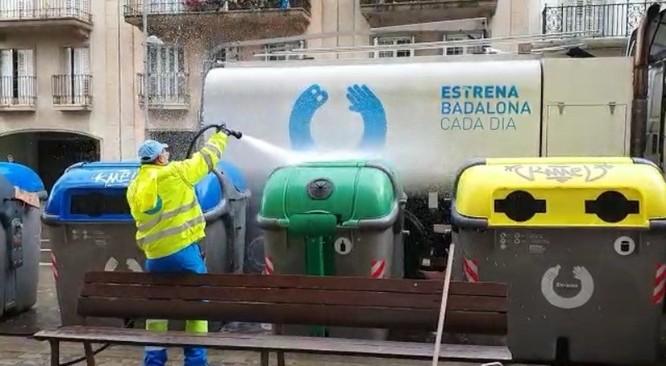 L'Ajuntament de Badalona reforça els serveis de neteja després del confinament total
