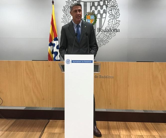 Declaració institucional de l'alcalde Xavier Garcia Albiol davant l'anunci de la Generalitat de Catalunya de suspendre l'activitat de bars i restaurants durant els pròxims quinze dies per fer front a l'expansió de la Covid-19