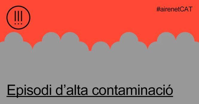 La Generalitat declara un episodi per alta contaminació per partícules a tot Catalunya