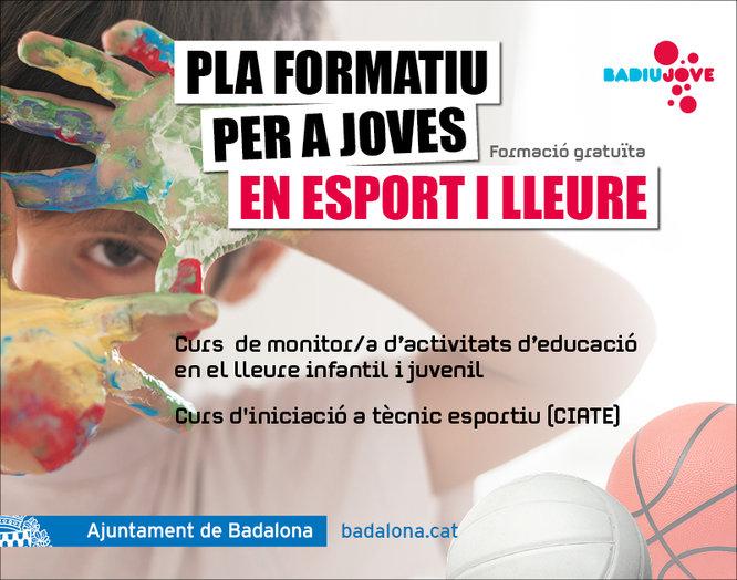 L'Ajuntament de Badalona posa en marxa un Pla formatiu per a joves en esport i lleure