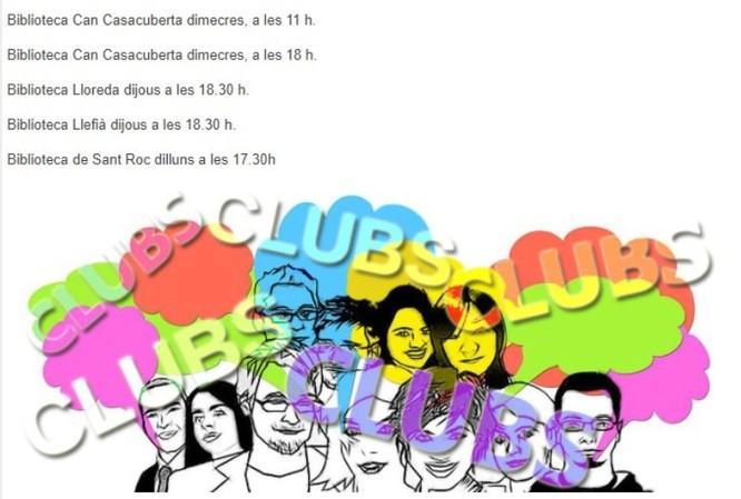 Activitats a les biblioteques de Badalona i nou funcionament dels clubs i tertúlies literàries