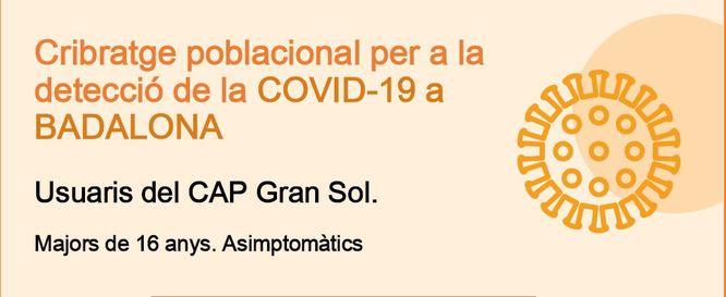 El CAP Gran Sol de Badalona acull un cribratge intensiu contra la COVID-19