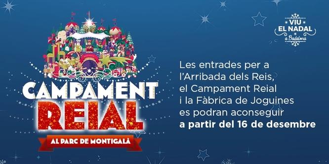 Exhaurides durant el matí el 50% de les entrades per al Campament Reial que s'establirà a partir del 28 de desembre al parc de Montigalà