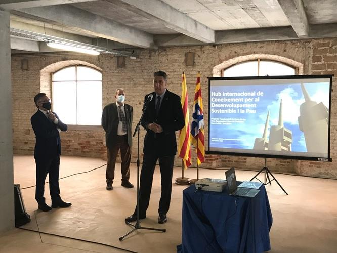 Els alcaldes de Badalona i Sant Adrià i el conseller d'Empresa i Coneixement mostren el seu compromís per desenvolupar conjuntament el Hub del coneixement de Barcelonès Nord