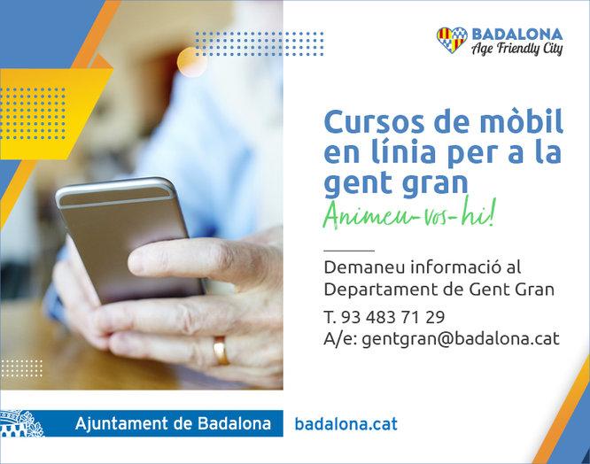 L'Ajuntament ofereix a la gent gran de Badalona cursos en línia per millorar l'ús dels telèfons mòbils