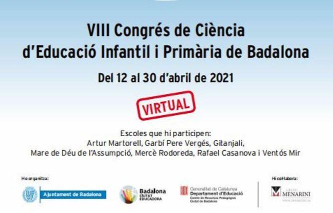 Badalona celebra del 12 al 30 d'abril el VIII Congrés de Ciència d'Educació Infantil i Primària