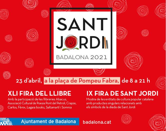 Celebració de Sant Jordi 2021 a Badalona
