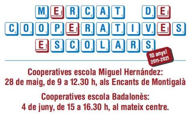 Alumnes de dues escoles de Badalona posen a la venda, el 28 de maig i el 4 de juny, els productes que han elaborat en les seves cooperatives