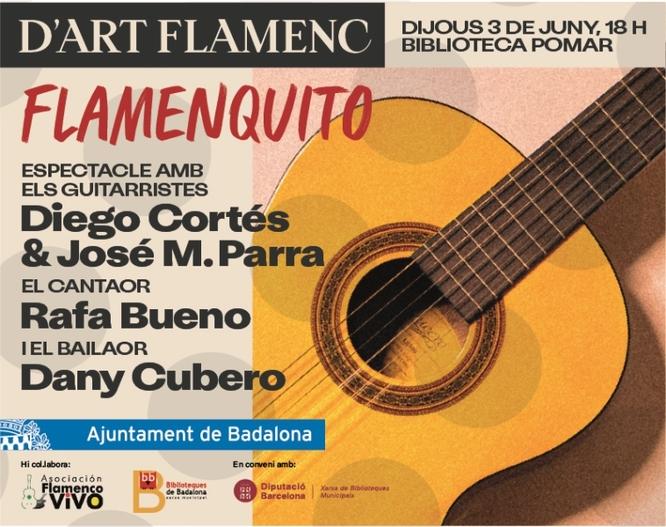 """L'espectacle """"Flamenquito"""" arriba demà dijous a la Biblioteca Pomar per apropar la cultura flamenca a les noves generacions"""