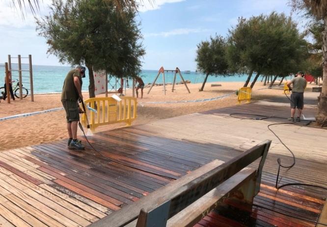 Comencen les obres de manteniment, reforma i millora del passeig Marítim de Badalona