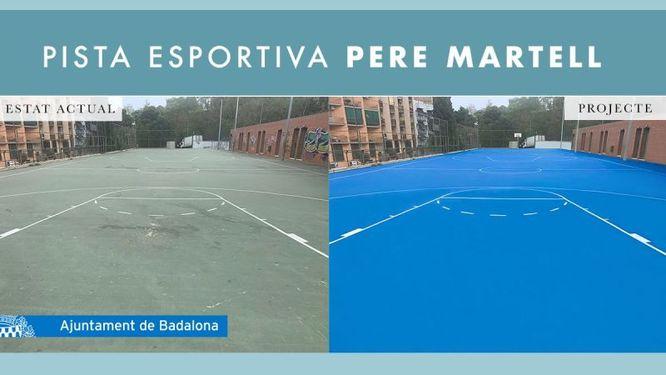 L'Ajuntament de Badalona inverteix 100.000 euros en l'adequació de la pista esportiva de Pere Martell perquè pugui ser utilitzada pel CB Sant Josep i d'altres entitats esportives