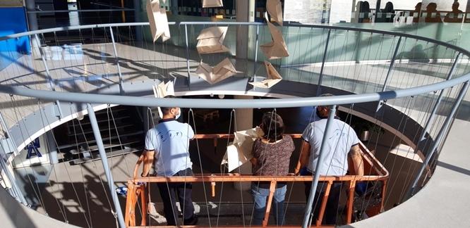 L'escultura Origami del Badalona Centre Internacional de Negocis es trasllada temporalment al Museu Guggenheim Bilbao